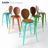 3d model of bar stools chairs