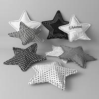 pillow stars 3d max