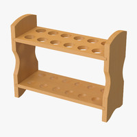 wooden test tube rack 3d max