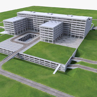 3d model science center building