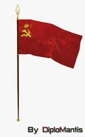 3d flag ussr