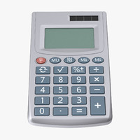 pocket calculator 3d max