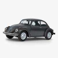 volkswagen beetle 1966 simple c4d