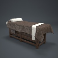 massage bed 3d max