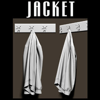 3d model jacket coat rack