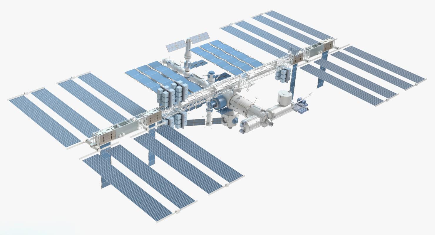 3d international space station model for Space station 13 3d