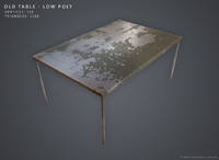 3d old table -
