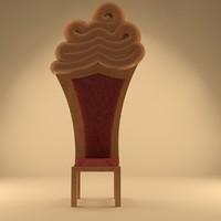 3d max royal chair