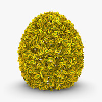 realistic hedge 02 yellow 3d max