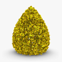 realistic hedge 03 yellow 3d max