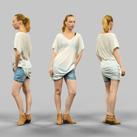 3d girl transparant jeans short model
