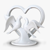 3d wedding cake topper model