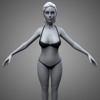 3d obj female body