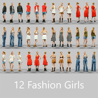 girls 12 fashion 3d model
