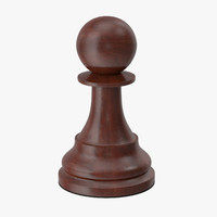 pawn chess piece 3d max