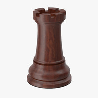 3d rook chess piece model