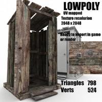 wooden toilet 3d max