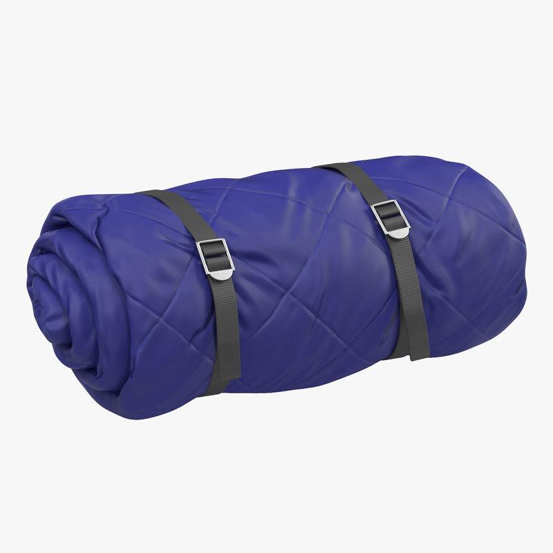3d model of Folded Blue Sleeping Bag 00.jpg