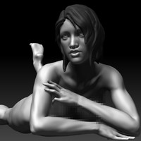 realistic posed sexy female 3d model
