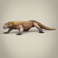 realistic komodo dragon 3d model