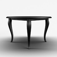 3d classic cuisine table black model