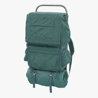 3d camping backpack model