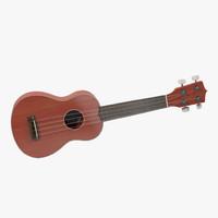 3d ukulele generic model