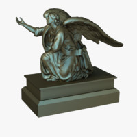 prayer angel 3d model