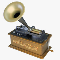 3d model edison home phonograph