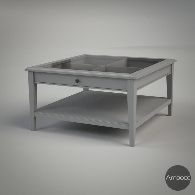 3d Model Ikea Liatorp Coffee Table