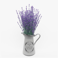 lavender flower 3d model