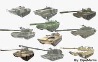 3d tank pack model