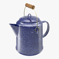 3d model camping coffee pot