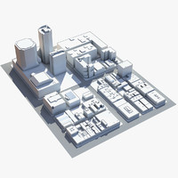 3d block san francisco model