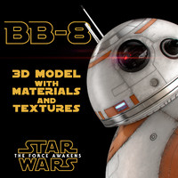 bb-8 star wars droid 3d max