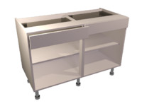 1200 base unit drawer 3d model