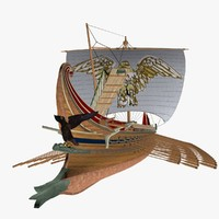 Roman Trireme Battle Ship