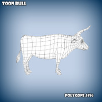 Cartoon bull base mesh
