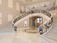 3d interior classical mansion model