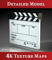 film slate - 3d 3ds