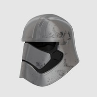 captain phasma helmet 3d model