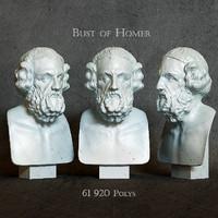 homer bust 3d model