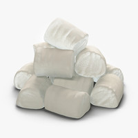 3d model marshmallow grouped