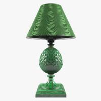 3d lamp malachite stone