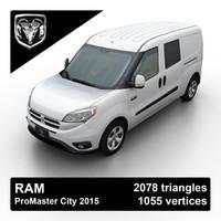2015 ram promaster city 3d model