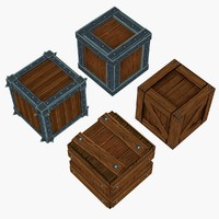 boxes hand painted 3d max