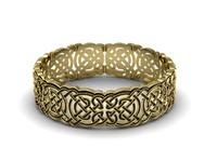 3d model gold bracelet