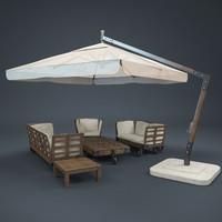 garden sunbrella armchair max