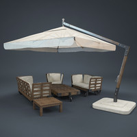 3d max garden sunbrella armchair