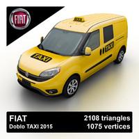 3d 2015 fiat doblo taxi model